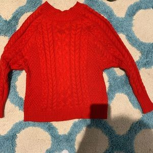 thicc red/orange aerie sweater